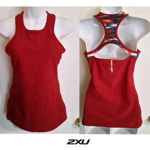 2xu run fitness active athletic long tank top S